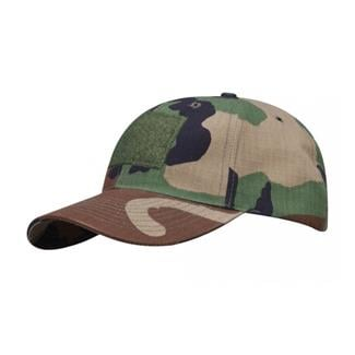 Propper Cotton Ripstop 6-Panel Hat with Loop Field Woodland