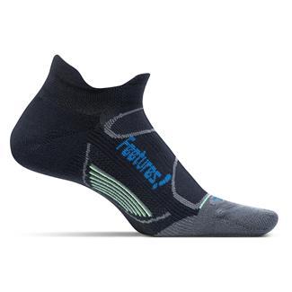 Feetures! Elite Light Cushion No Show Tab Socks Black / Pacific Blue