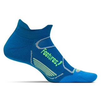 Feetures! Elite Light Cushion No Show Tab Socks Pacific Blue / Reflector