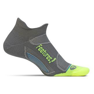Feetures Elite Light Cushion No Show Tab Socks Graphite / Reflector