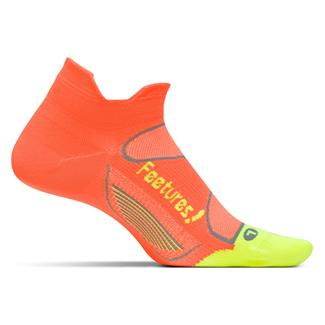 Feetures! Elite Ultra Light No Show Tab Socks Electric Orange / Reflector