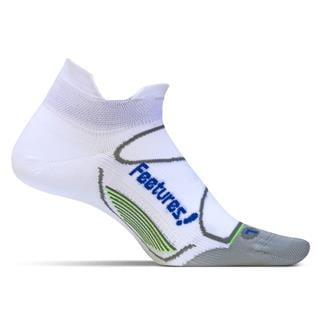 Feetures Elite Ultra Light No Show Tab Socks White / Olympian Blue