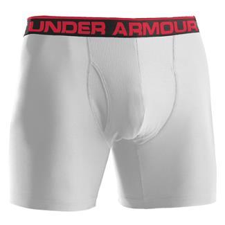 """Under Armour O-Series 6"""" BoxerJock Boxer Briefs White"""