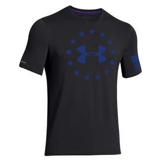 Under Armour Freedom T-Shirt Black / Royal