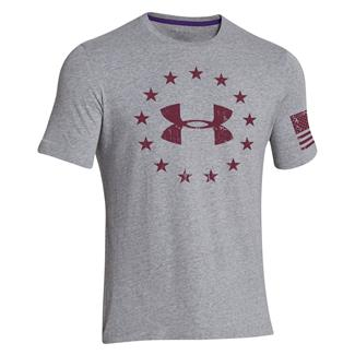 Under Armour Freedom T-Shirt True Gray Heather / Sherry
