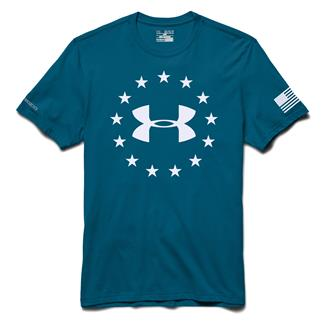 Under Armour Freedom T-Shirt Sapphire Lake / White