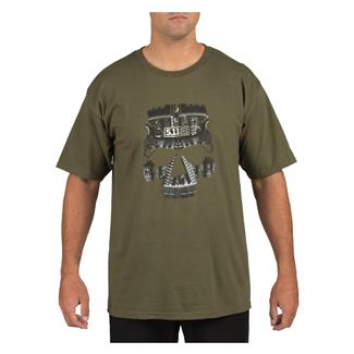 5.11 AR Skull T-Shirt OD Green