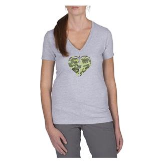 5.11 Cross Your Heart T-Shirt Heather Grey