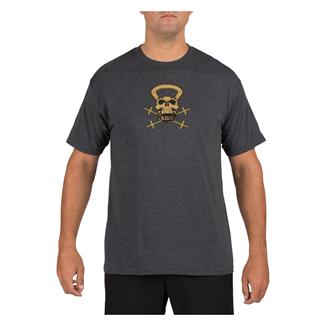 5.11 RECON Skull Kettle Logo T-Shirt Charcoal Heather
