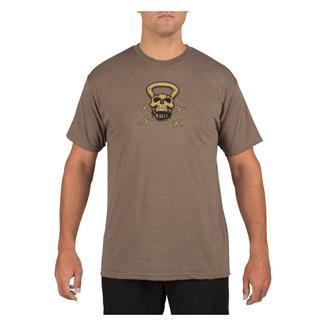 5.11 RECON Skull Kettle Logo T-Shirt Brown Heather