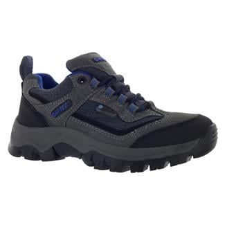 Kids' Hi-Tec Hillside Low JR WP Charcoal / Blue / Black