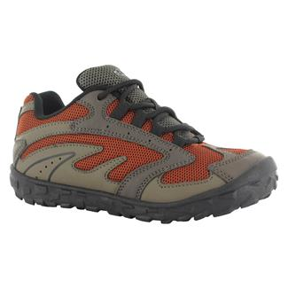 Kids' Hi-Tec Meridian JR WP Smokey Brown / Taupe / Red Rock