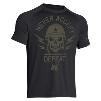 Under Armour Never Accept Defeat T-Shirt Black / Marine OD Green