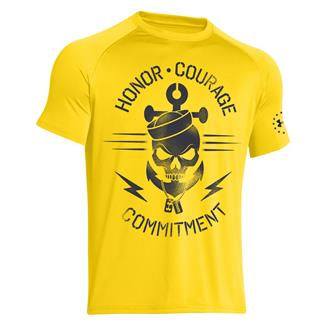 Under Armour Honor Courage Commitment T-Shirt Bright Yellow / Midnight Navy