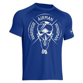 Under Armour Warrior Airman Wingman T-Shirt Royal / White