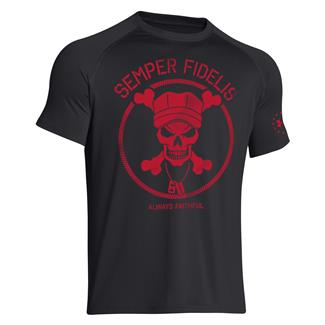 Under Armour Semper Fidelis T-Shirt Black / Red