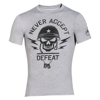 Under Armour Never Accept Defeat Compression T-Shirt True Gray Heather / Black
