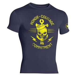 Under Armour Honor Courage Commitment Compression T-Shirt Midnight Navy / Taxi