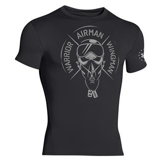 Under Armour Warrior Airman Wingman Compression T-Shirt Black / Aluminum