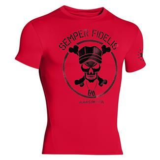 Under Armour Semper Fidelis Compression T-Shirt Red / Black