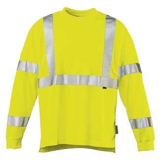 Wolverine Caution Long Sleeve T-Shirt Hi Vis Green