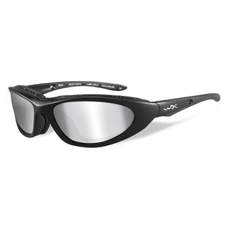 Wiley X Blink Matte Black Polarized Silver Flash (Smoke Gray)