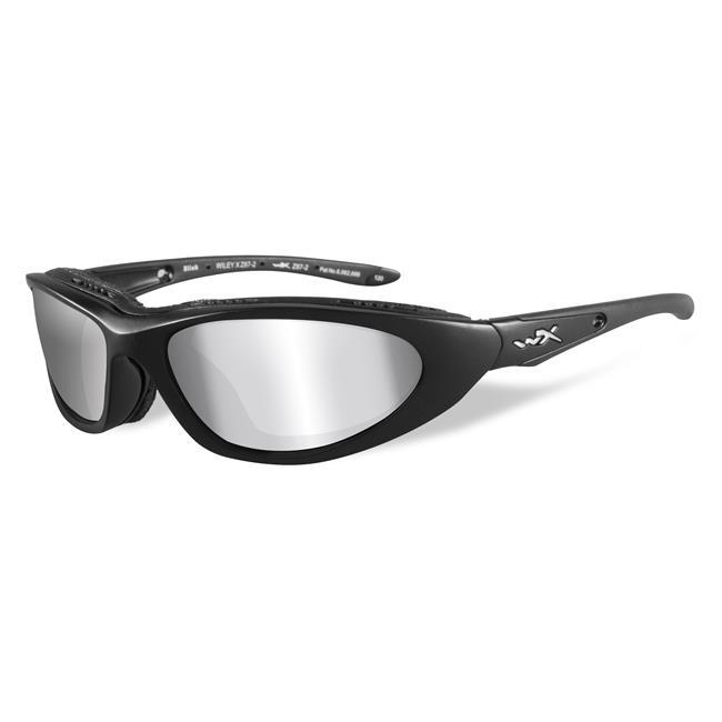 Wiley X Blink Matte Black Polarized Silver Flash (Smoke Gray)