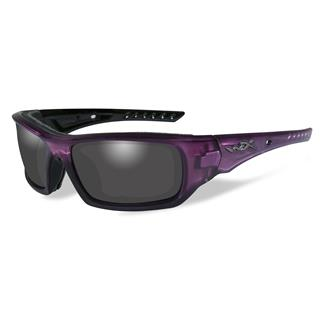 Wiley X Arrow Crystal Plum (frame) - Smoke Gray (lens)