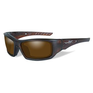 Wiley X Arrow Matte Layered Tortoise (frame) - Polarized Amber (lens)