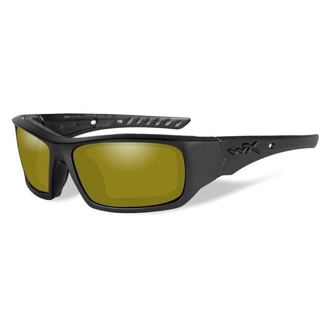 Wiley X Arrow Matte Black Polarized Yellow