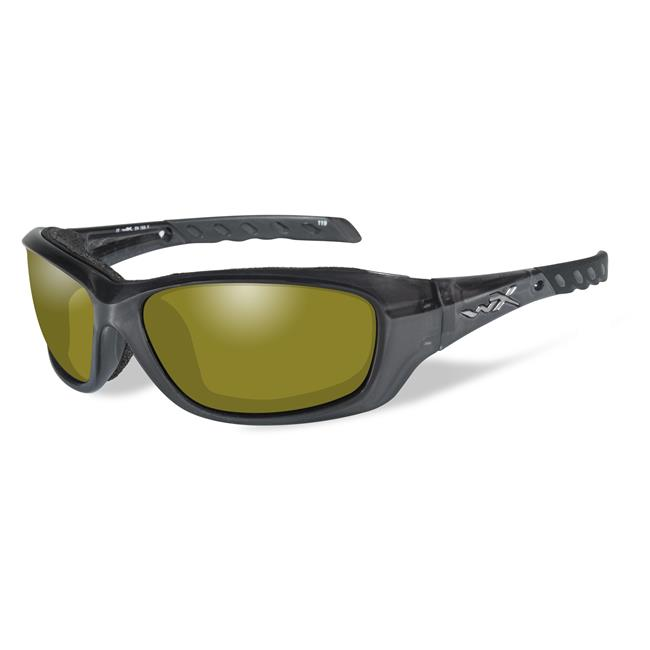 Wiley X Gravity Black Crystal Polarized Yellow