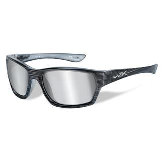 Wiley X Moxy Black Streak (frame) - Silver Flash (Smoke Gray) (lens)