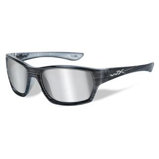 Wiley X Moxy Black Streak Silver Flash (Smoke Gray)