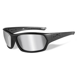 Wiley X Legend Matte Black Silver Flash (Smoke Gray)