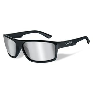 Wiley X Peak Gloss Black (frame) - Silver Flash (Smoke Gray) (lens)