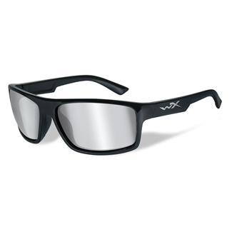 Wiley X Peak Gloss Black (frame) - Silver Flash (Smoke Gray) (lens)