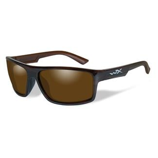 Wiley X Peak Polarized Amber Gloss Layered Tortoise