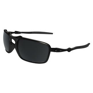 Oakley Badman Dark Carbon Black Iridium Polarized