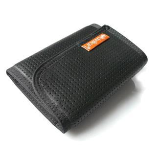 Hazard 4 Clip Tri-Fold Leather Wallet Black