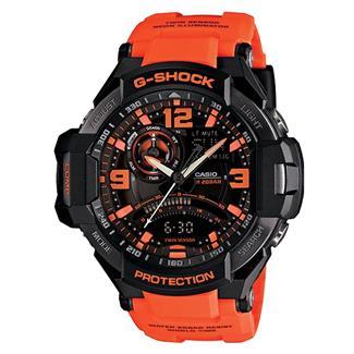 Casio Tactical G-Shock G-Aviation GA1000 Black / Safety Orange
