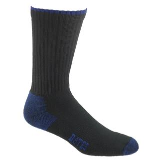 Bates Cotton Comfort Crew Sock - 12 Pair Black