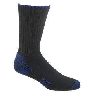 Bates Cotton Comfort Crew Sock - 12 Pair Black