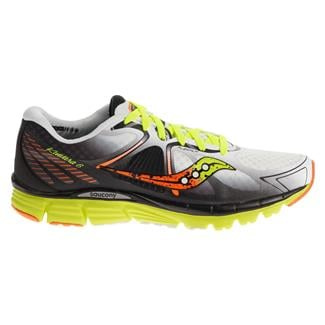 Saucony Kinvara 6 White / Citron / Orange