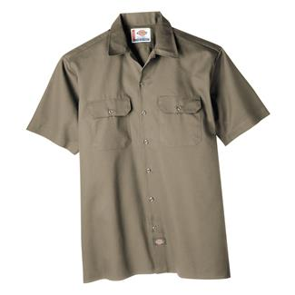 Dickies Original Fit Short Sleeve Work Shirt Khaki