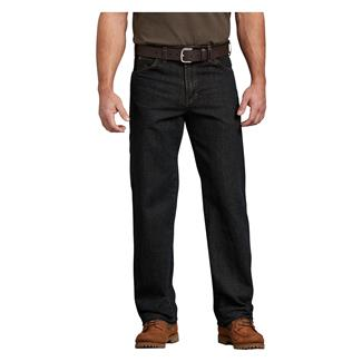 Dickies Relaxed Fit Denim Carpenter Jeans Broken Twill with Brown Tint
