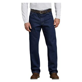 Dickies Relaxed Fit Denim Carpenter Jeans Rinsed Indigo Blue