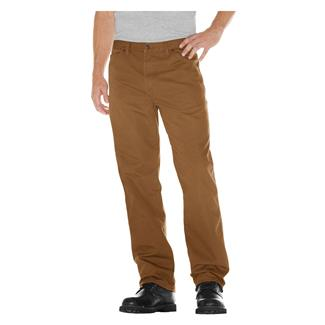 Dickies Relaxed Fit Duck Carpenter Jeans Rinsed Brown