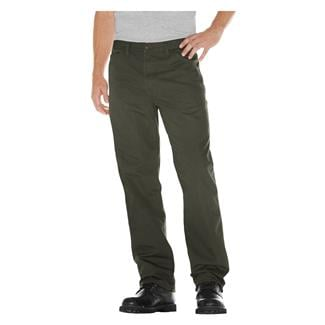 Dickies Relaxed Fit Duck Carpenter Jeans Rinsed Moss Green