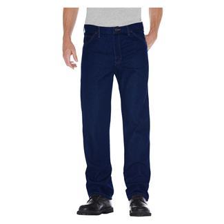 Dickies Regular Fit Denim Jeans Rinsed Indigo Blue