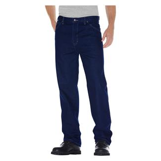 Dickies Relaxed Fit Denim Jeans Rinsed Indigo Blue